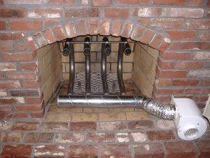 120,000 BTU Fireplace Furnace - Wood Burning Fireplace Grate Heater Hearth Heat Exchanger