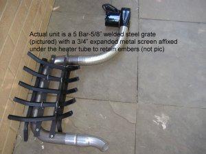 28000 BTU Fireplace Furnaces - Wood Burning Fireplace Grate Heater Heat Exchanger w/Blower