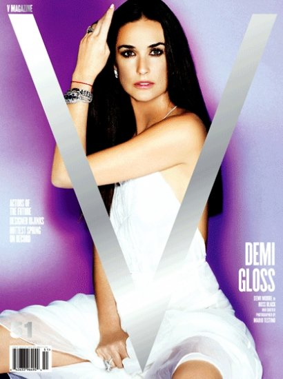 V MAGAZINE Poster SET 2' x 3' Testino & Demi Moore COVER 2008 New