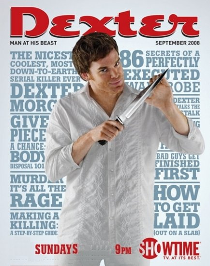 DEXTER Original Poster * MICHAEL C. HALL * Esquire Cover 2' x 3' Showtime Rare 2008 Mint