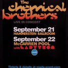 THE CHEMICAL BROTHERS Original Concert Poster 2' x 3' NYC 2007 MINT