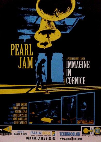 Pearl Jam IMAGINE IN CORNICE Original Concert Film Poster 2' x 3' Rare 2007