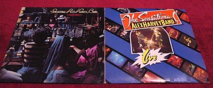 Alex Harvey Original LP Collection * SAUB STORIES & LIVE * Rare 1975 Mint