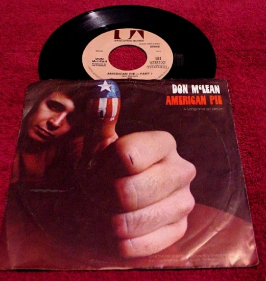 DON McLEAN Original 45rpm * American Pie * with Picture Sleeve Rare 1971 Mint