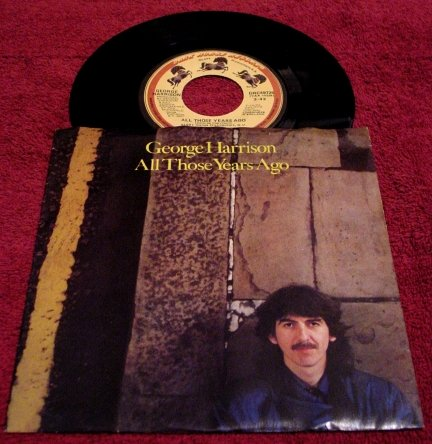 George Harrison * ALL THOSE YEARS AGO * Original 45rpm with Picture Sleeve 1981 Rare Mint