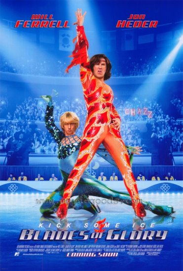 BLADES OF GLORY Original Movie Poster * WILL FERRELL * Huge 4' x 6' Rare 2007 Mint
