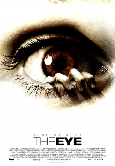 THE EYE Original Movie Poster * JESSICA ALBA * Huge 4' x 6' Rare 2008 Mint