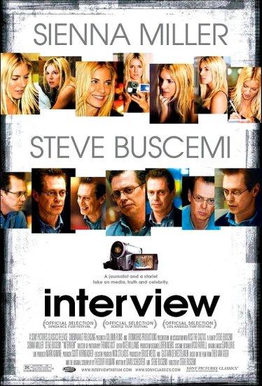"""Buscemi's INTERVIEW Original Movie Poster 27"""" x 40"""" * SIENNA MILLER * Rare 2007 Mint"""