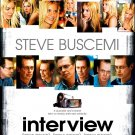 "Buscemi's INTERVIEW Original Movie Poster 27"" x 40"" * SIENNA MILLER * Rare 2007 Mint"