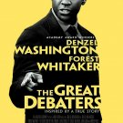 THE GREAT DEBATERS Original Movie Poster * DENZEL WASHINGTON * Huge 4' x 6' Rare 2007 Mint