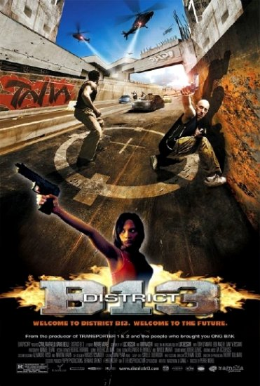 Luc Besson's DISTRICT B 13 Original Movie Poster * PARKOUR * 2' x 3' Rare 2006 Mint
