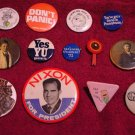 Vintage Pins ( 13 ) * Nixon / 1960s / 1970s / Cartoons * Mint