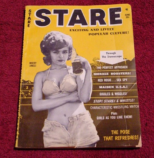 STARE Pin-up Magazine * Betty Page * Rare CheeseCake 1963 MINT