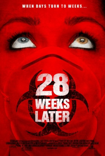 28 WEEKS LATER Original Movie Poster * ROBERT CARLYLE * Huge 4' x 6' Rare 2007 Mint
