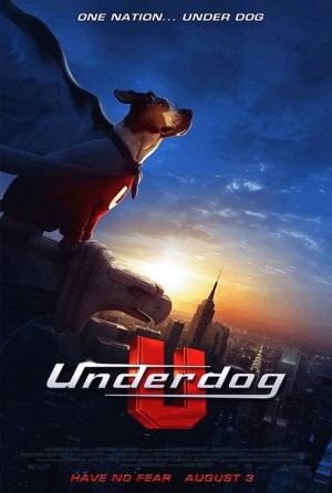 Disney's UNDERDOG Original Movie Poster * JIM BELUSHI * Huge 4' x 6' Rare 2007 Mint