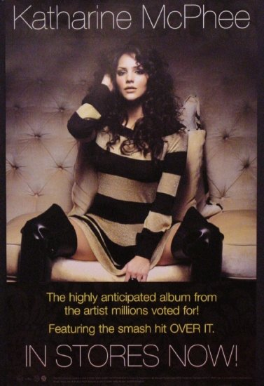 "Katharine McPhee * OVER IT * Original Music Poster 14"" x 22"" Rare 2007 Mint"