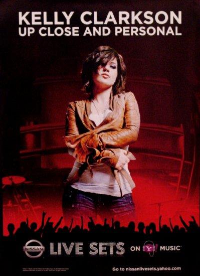Kelly Clarkson Original Music Poster SET * LIVE SETS & GLACEAU * 2' x 3' Rare 2007 Mint