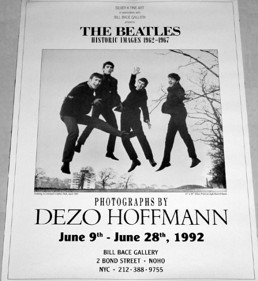 "The BEATLES Original Exhibit Poster NYC 18"" x 24"" Rare 1992 MINT"