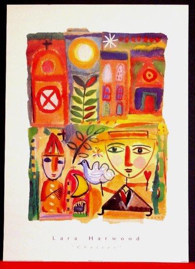 Lara Harwood Original Fine Art Poster * CHOICES * 2' x 3' Rare 1996 Mint