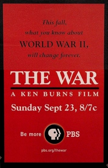 Ken Burns WORLD WAR 2 Movie Poster SET * THE WAR * PBS 2' x 3' Rare 2007 NEW