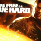 DIE HARD 4 Movie Poster * LIVE FREE or DIE HARD * BRUCE WILLIS 3' x 6' Rare 2007 NEW