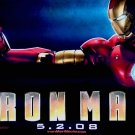 IRON MAN Movie Poster * ROBERT DOWNEY JR. * 4' x 5' Rare 2008 NEW