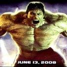 THE INCREDIBLE HULK Movie Poster * EDWARD NORTON * 3' x 6' Rare 2008 NEW
