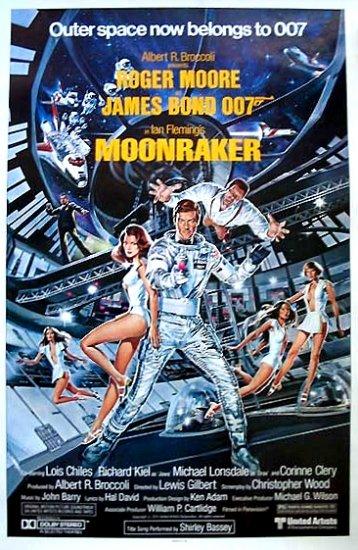 "James Bond 007 MOONRAKER Movie Poster * Roger Moore * 20""x 27"" Rare 1979 MINT"