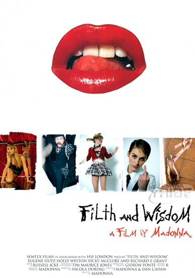 "Madonna FILTH AND WISDOM Movie Poster * HOLLY WESTON & EUGENE HUTZ * 27"" x 40"" Rare 2008 NEW"