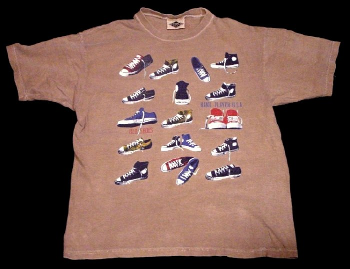 Hank Player USA * OLD SNEAKERS * RARE Cotton T-Shirt Medium MINT