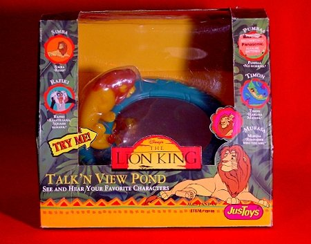 Disney's THE LION KING Talk'N View Pond Toy * Mufasa & Pals * Sealed 1994 MINT