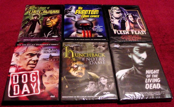 DVD Movie Collection ( 8 ) Rare & Obscure Horror , Crime  & Science Fiction ~ NEW.