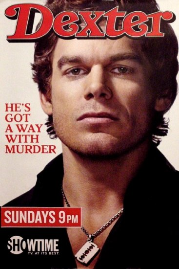 DEXTER Original Poster * MICHAEL C. HALL * Rolling Stone Cover 2' x 3' Showtime Rare 2008 Mint