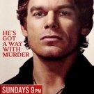 DEXTER Original Poster * MICHAEL C. HALL * Rolling Stone Cover 2' x 3' Showtime Rare 2008 Mint