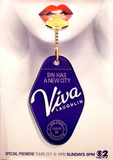 Hugh Jackman's VIVA LAUGHLIN Original Poster 3' x 4' CBS Rare 2007 Mint