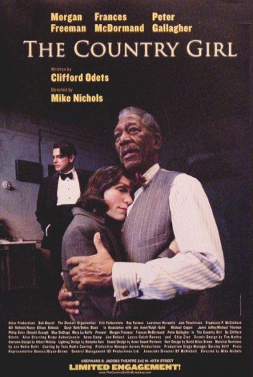"Mike Nichols THE COUNTRY GIRL Broadway Poster * MORGAN FREEMAN * 14"" x 22"" Rare 2008 MINT"