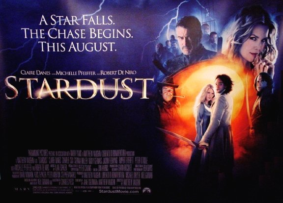 STARDUST Original Movie Poster * ROBERT DeNIRO & MICHELLE PFEIFFER * Huge 4' x 5' Rare 2007 Mint