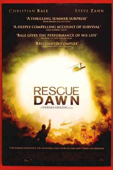 "Herzog's RESCUE DAWN Movie Poster CHRISTIAN BALE 27"" x 40"" Rare 2007 NEW"