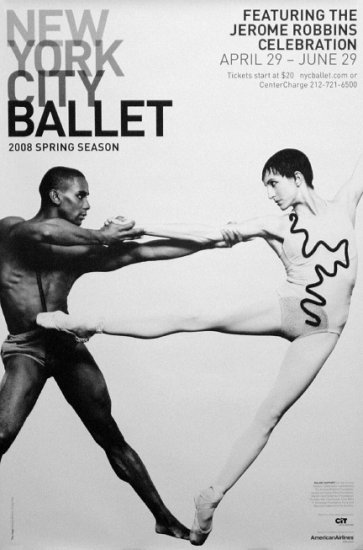 NYC BALLET Original Poster * JEROME ROBBINS * 2' x 3' Rare 2008 Mint