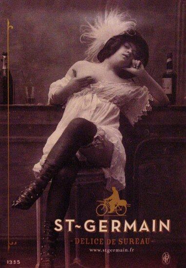 St. Germain Original Liqueur AD Poster DELICE D SUREAU 3' x 4' NUDE 2007 Mint