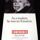 Albert Einstein * CONFIDENCE * Original Poster 2' x 4' Rare 2007 New
