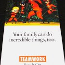 The Incredibles * FAMILY VALUES * Original Poster 2' x 4' Rare 2007 New