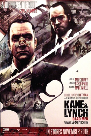 KANE & LYNCH : DEAD MEN Original Game Poster SET 2' x 3' Rare 2007 Mint