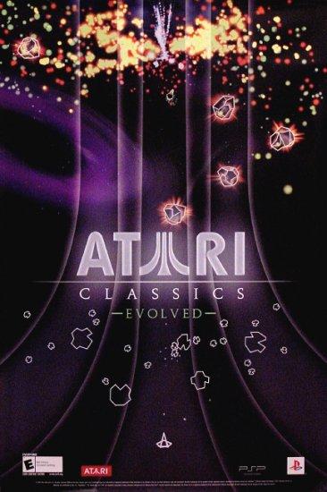ATARI CLASSICS EVOLVED Original Game Poster 2' x 3' Rare 2007 Mint