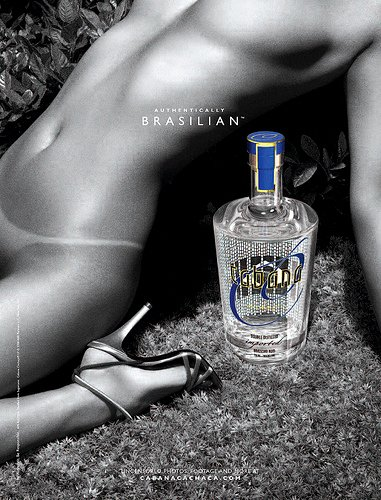 CABANA CACHACA Liquor AD Poster * NUDE * 2' x 3' Rare 2008 MINT