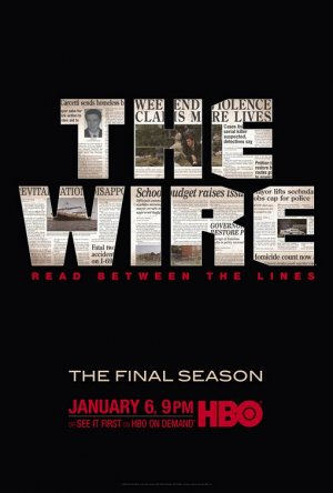 THE WIRE Poster * FINAL SEASON * HBO Huge 4' x 5' Rare 2008 NEW
