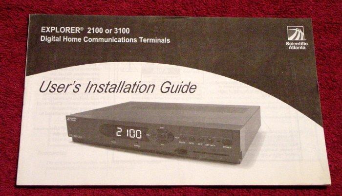 Scientific Atlanta Explorer 3100 Digital Cable Box Manual * MANUAL ONLY * NEW