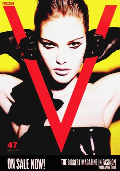V MAGAZINE Original Fashion Poster 2' x 3' Testino + Catherine McNeil 2007 Mint