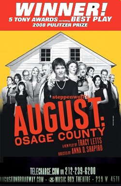 AUGUST : OSAGE COUNTY Broadway Poster * CAST * 4' x 6' Rare NEW 2008