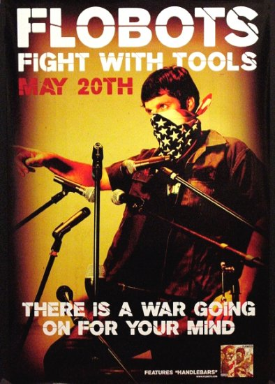 Flobots * FIGHT WITH TOOLS * Music Poster 2' x 3' Rare 2008 NEW